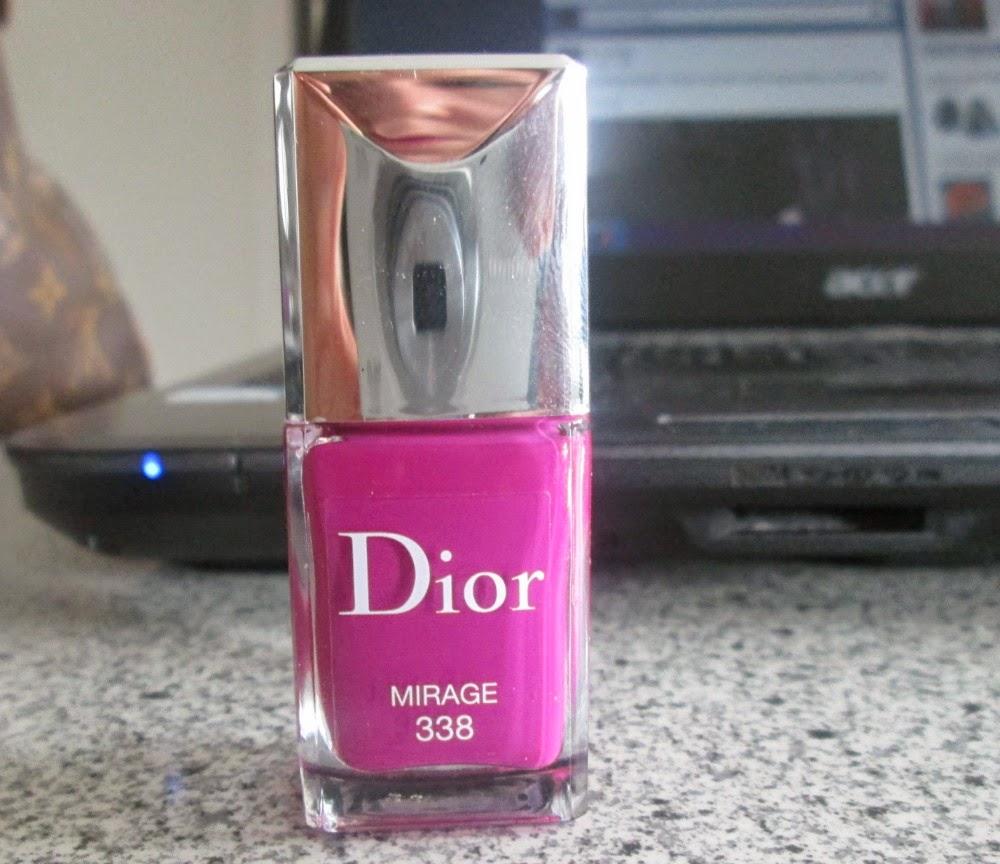 Nail Polish Package: REVIEW: Dior Mirage Number 338 Nail Polish
