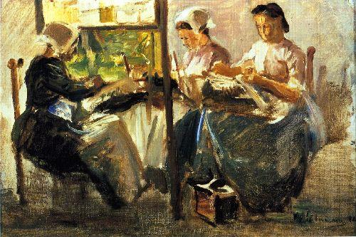 Max liebermann german artist 1847 1935 brabant lacemakers 1882