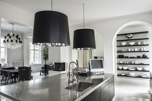 black and white decor kitchen