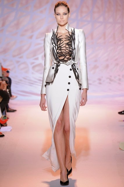 zuhair murad evening dress fall winter 2014 - 2015 collection