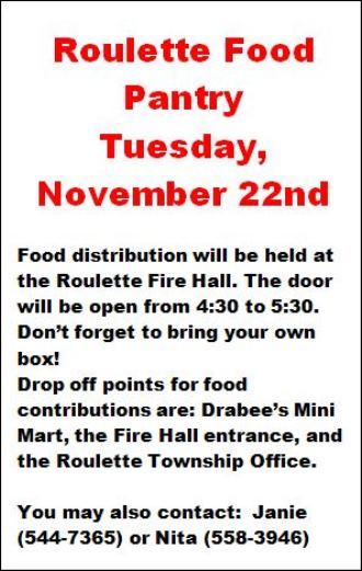 11-22 Roulette Food Pantry