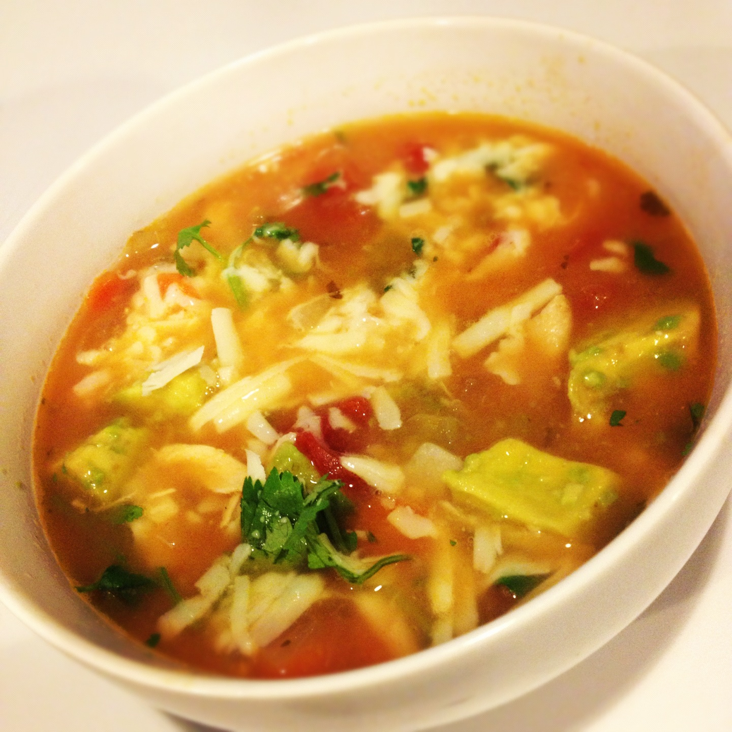 la denver dish.: Chicken Tortilla Soup