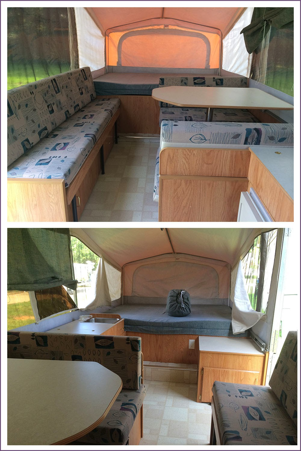 Crafty hope pop up camper supplies ideas and suggestions for Pop up camper interior designs