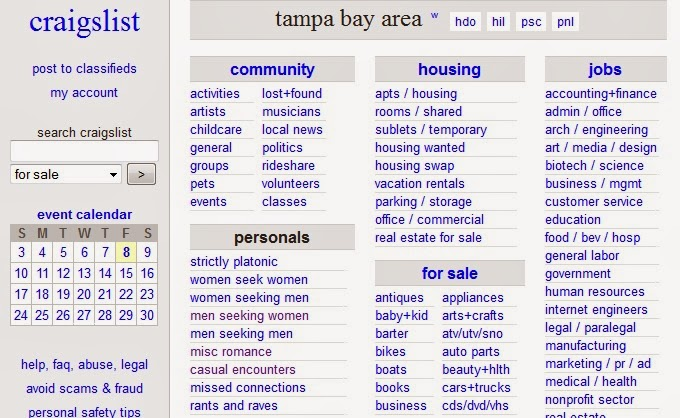 Tampa bay area craigslist personals Backpage Seizure