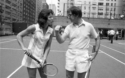 Billie Jean King and Bobby Riggs, protagonists of the historic Battle of the Sexes