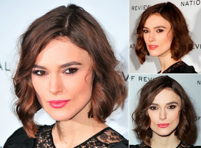 Keira Knightley Casual Short Hairstyle Curly