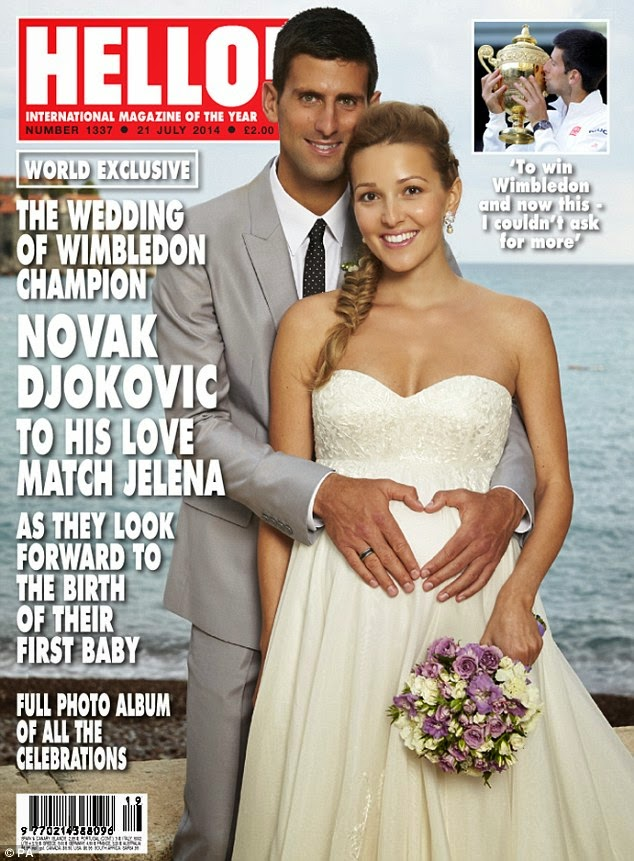 Djokovic and His Darling Bride