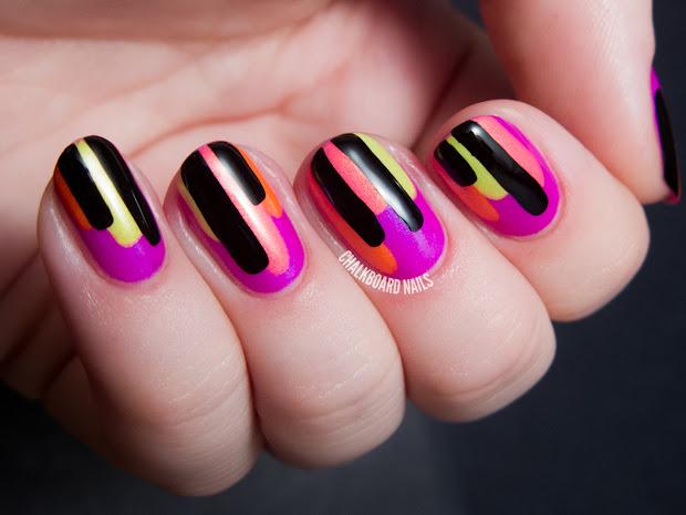 neon block drips - color club poptastic