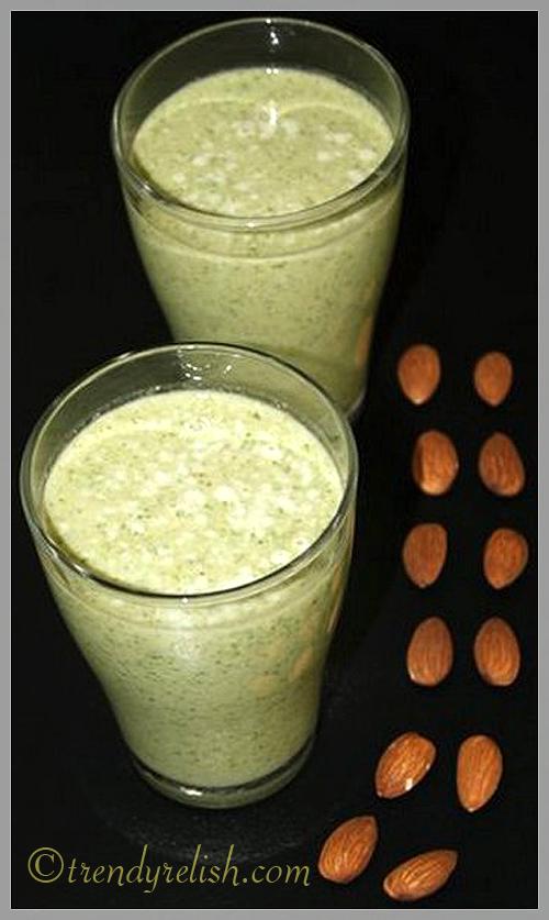 Spinach – Almond Shake