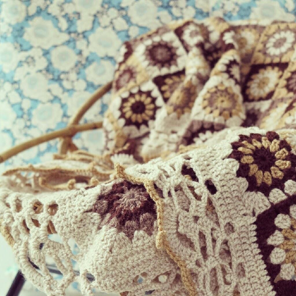 byHaafner, crochet, blanket, granny squares, vintage style