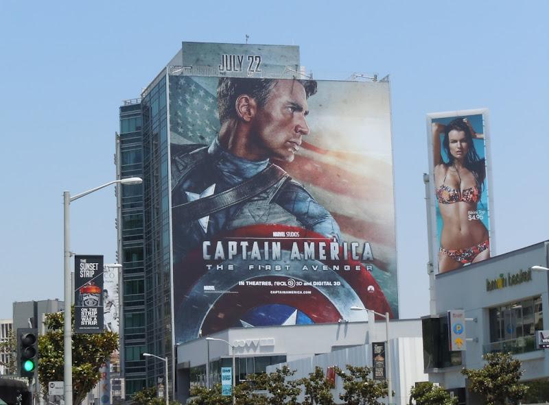 Giant Captain America billboard