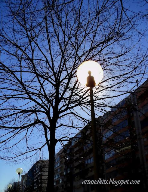 Podes apagar a vida em ti... mas não deixarei que vivas apagada em mim... diz o candeeiro para a árvore... / You can switch off the life in you... but I won't let you to live switched off in me... says the street  lamp to the tree...