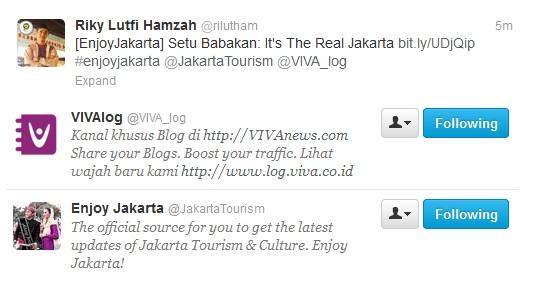 Enjoy Jakarta, WAKTUNYA LUPA WAKTU