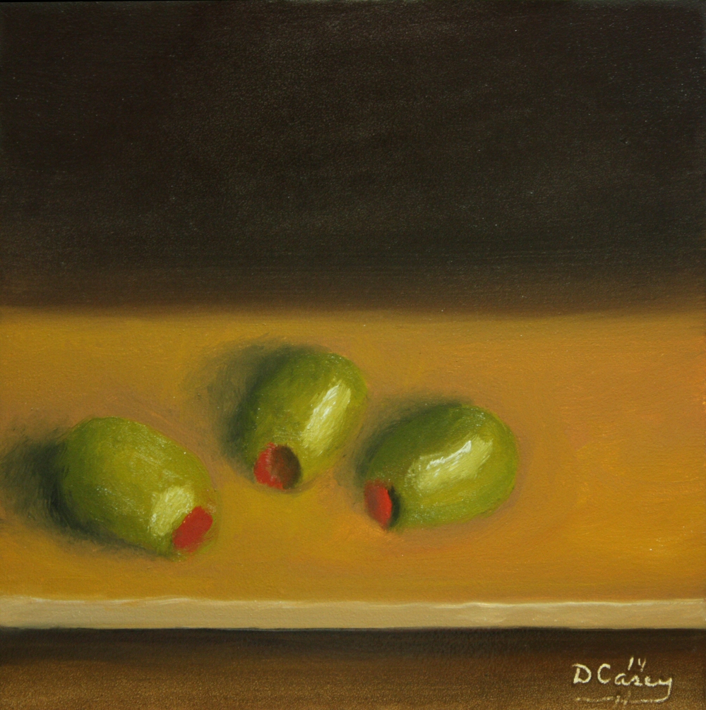 140826 - Kitchen Painting - Olives 001a 6x6 oil on gessobord - Dave Casey - TheDailyPainter.jpg