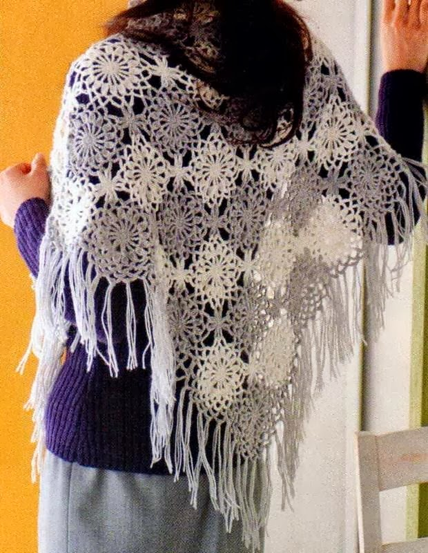 Crochet Patterns Shawl : Crochet Shawls: Crochet Shawl Pattern - Beautiful Womens Shawl