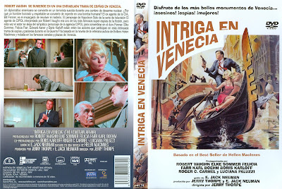 Carátula dvd: Intriga en Venecia.