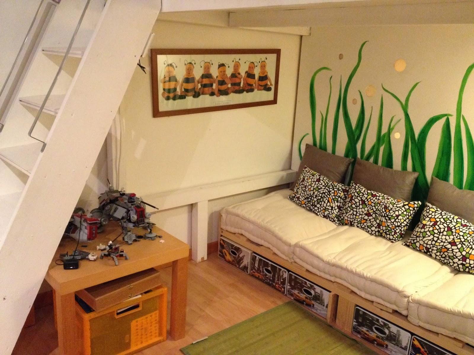 Mezzanine chambre comble - Lit mezzanine sous pente ...