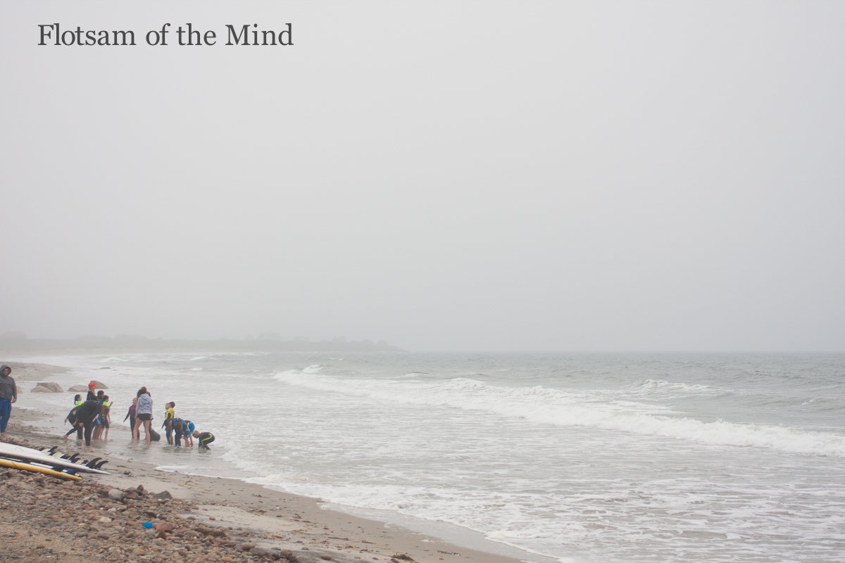 Rainy Day at the Beach - Flotsam of the Mind