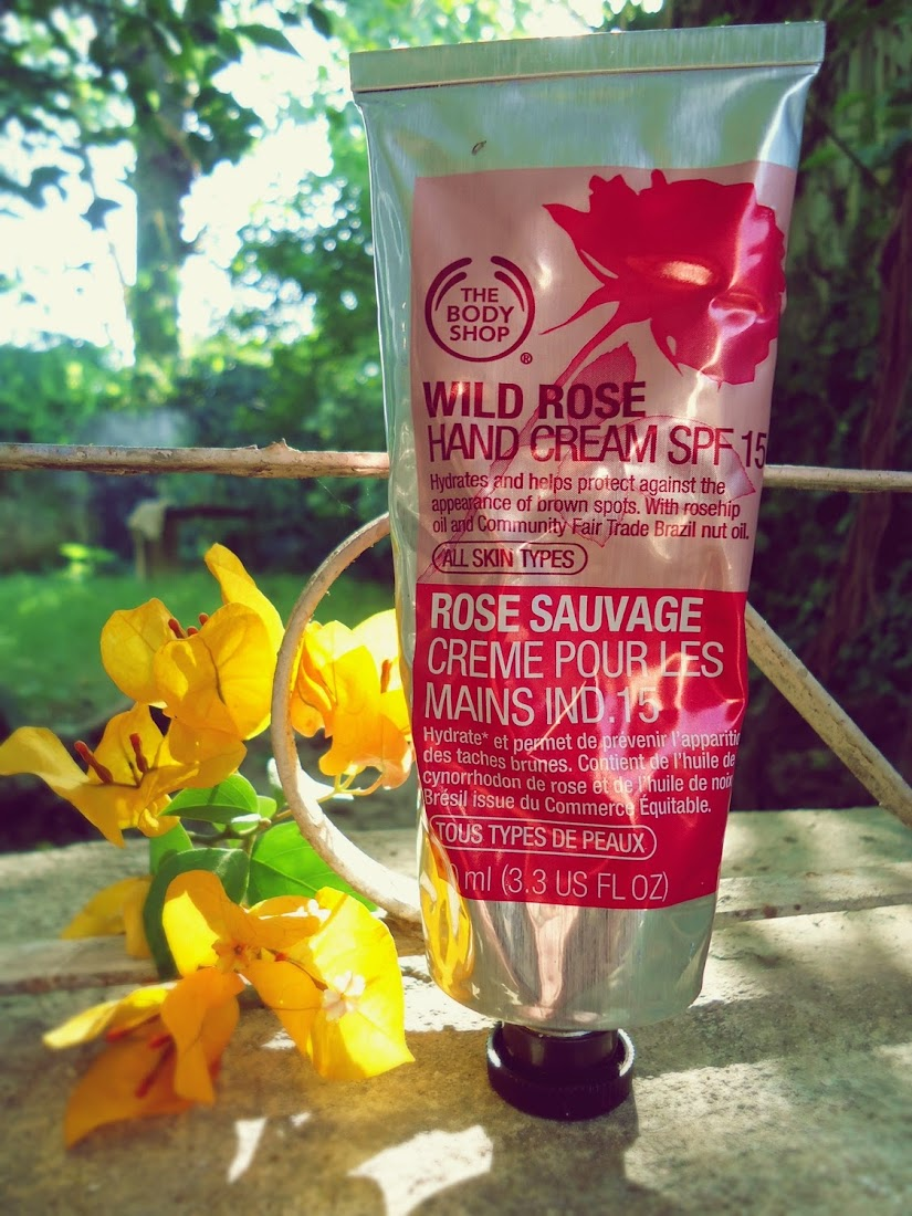 The Body Shop Wild Rose Hand Cream SPF 15