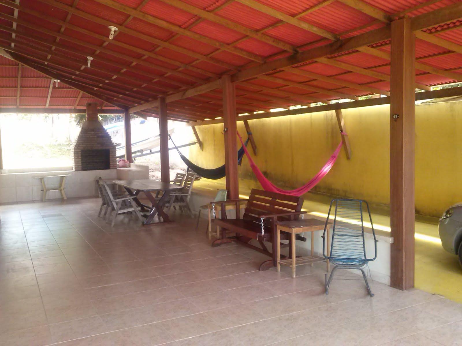 Casa Alter - Alpendre - Área de almoço - redes - descanso.