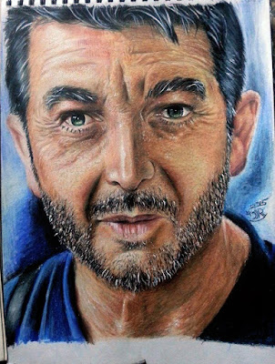 Portrait by pencil color