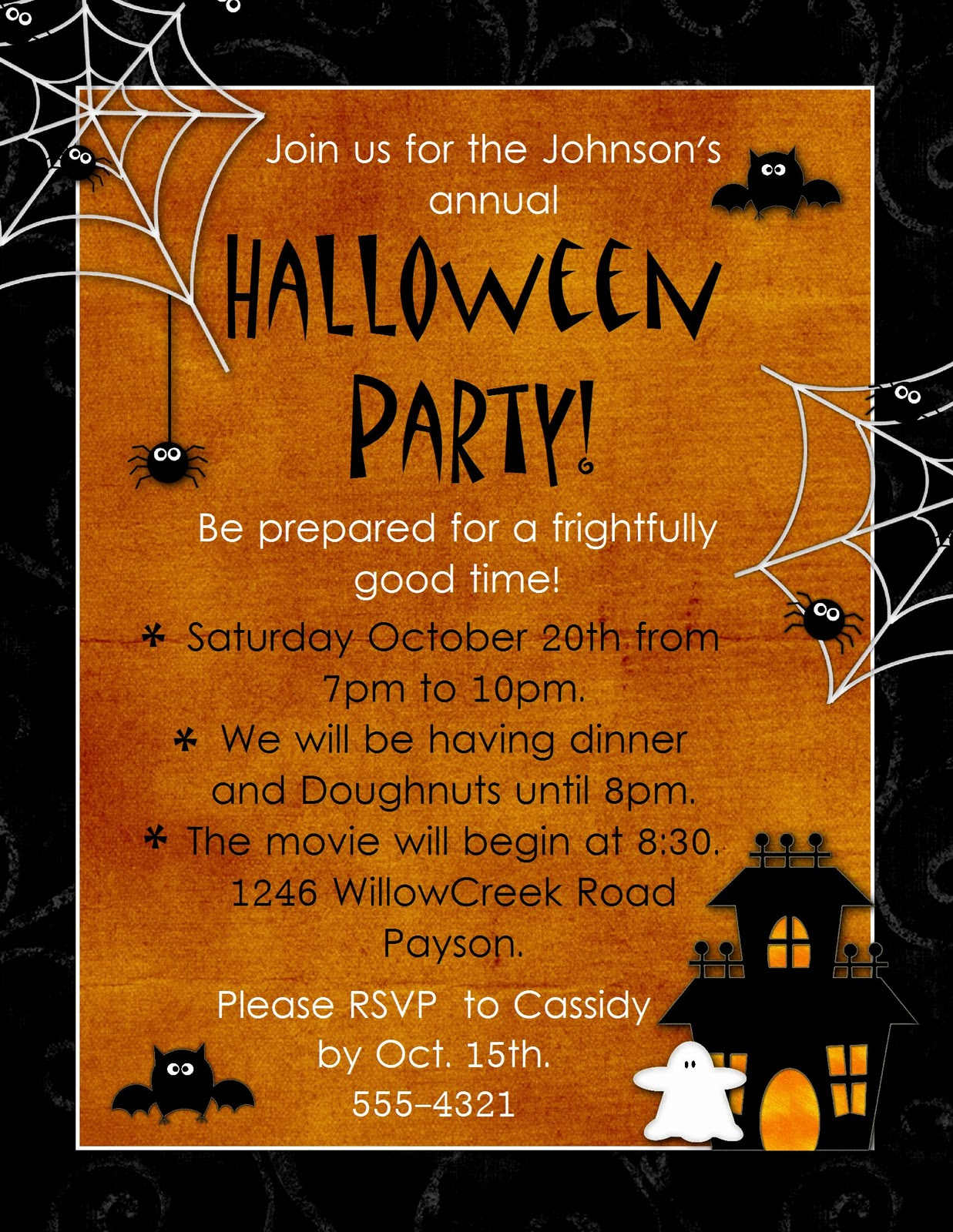 Halloween Potluck Invitation Wording was awesome invitation sample