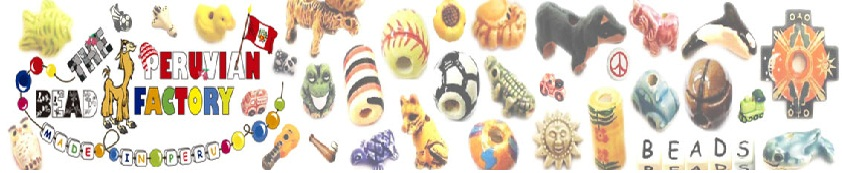 Peru Ceramic Beads, Ceramic Animal Beads, Peruvian Animal Beads
