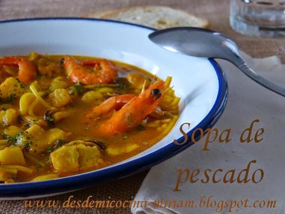 Sopa de pescado thermomix, sopa de pescado, sopa