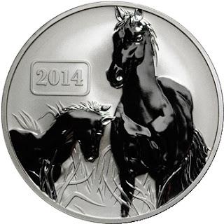 2014 Tokelau 1 Oz Silver Year of the Horse Coin ($5 Face Value)
