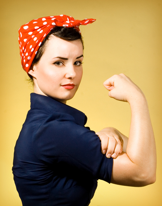 Rosie the riveter costume for Simple diy halloween costumes for women