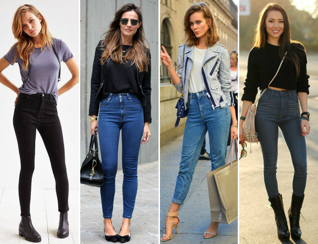Looks com calça de cintura alta jeans