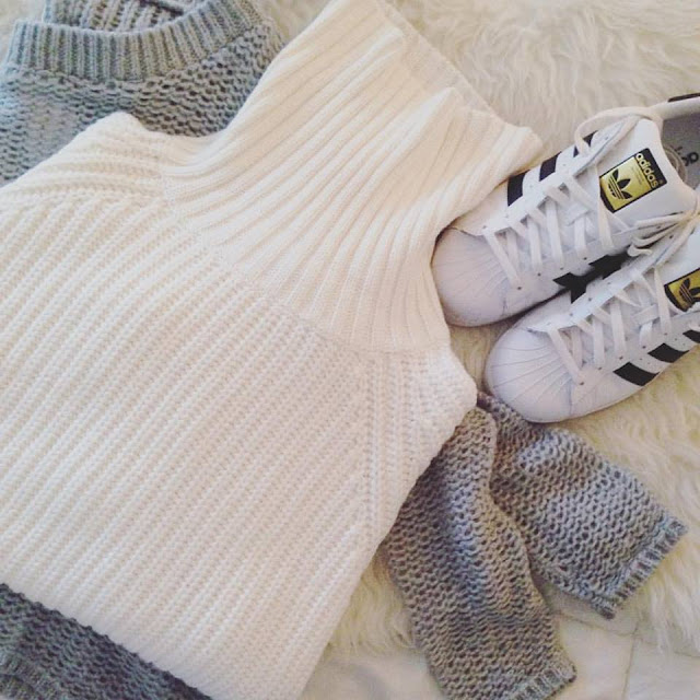 adidas superstars and cozy sweaters at Fitzroy Boutique