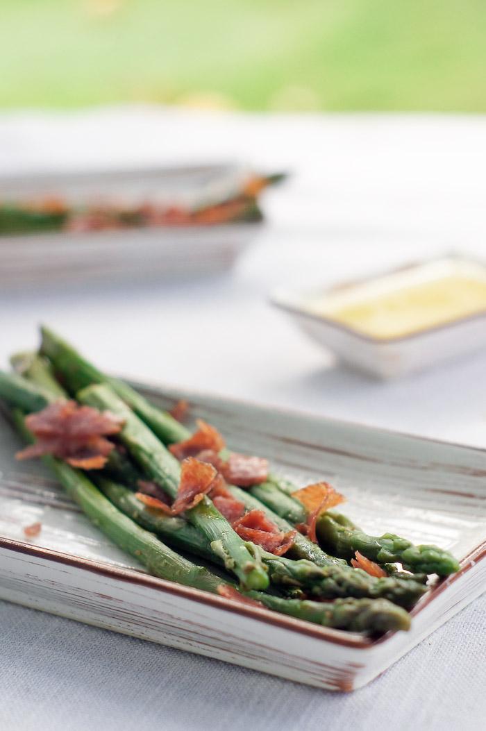 Salami Asparagus Recipe | thumb in plum