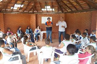 Especialistas do Meio Ambiente e Defesa Civil dão palestras para os alunos