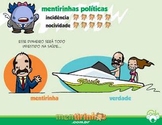 mentiras políticas, quadrinhos