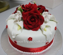 Kek Hantaran - Fondant