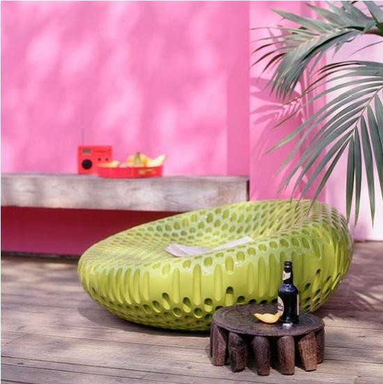 minimalista em rosa e verde
