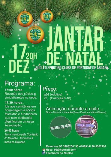 Núcleo Sporting Clube de Portugal de Arganil promove jantar de Natal