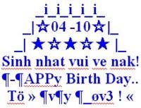 SMS, tin nhắn xếp hình Happy Birthday