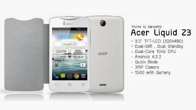 Harga Acer Liquid Z3 Dan Z2 lengkap dengan Spesifikasi HP Acer Murah