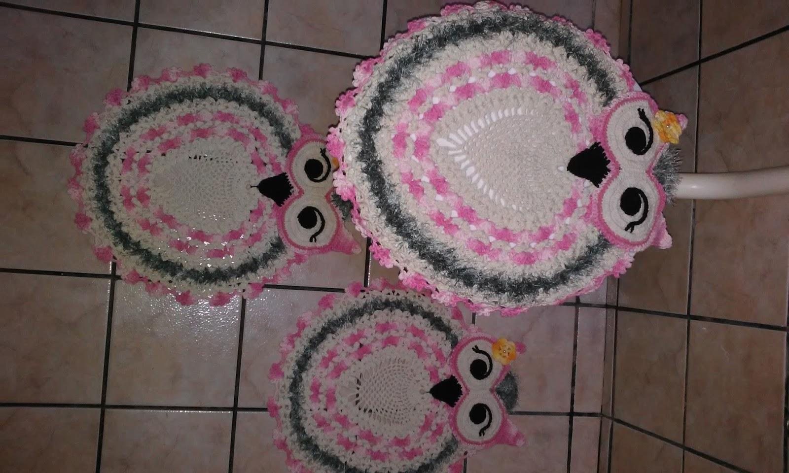 ola pessoal veja meu jogo de banheiro em croche.. #8E3D65 1600 960