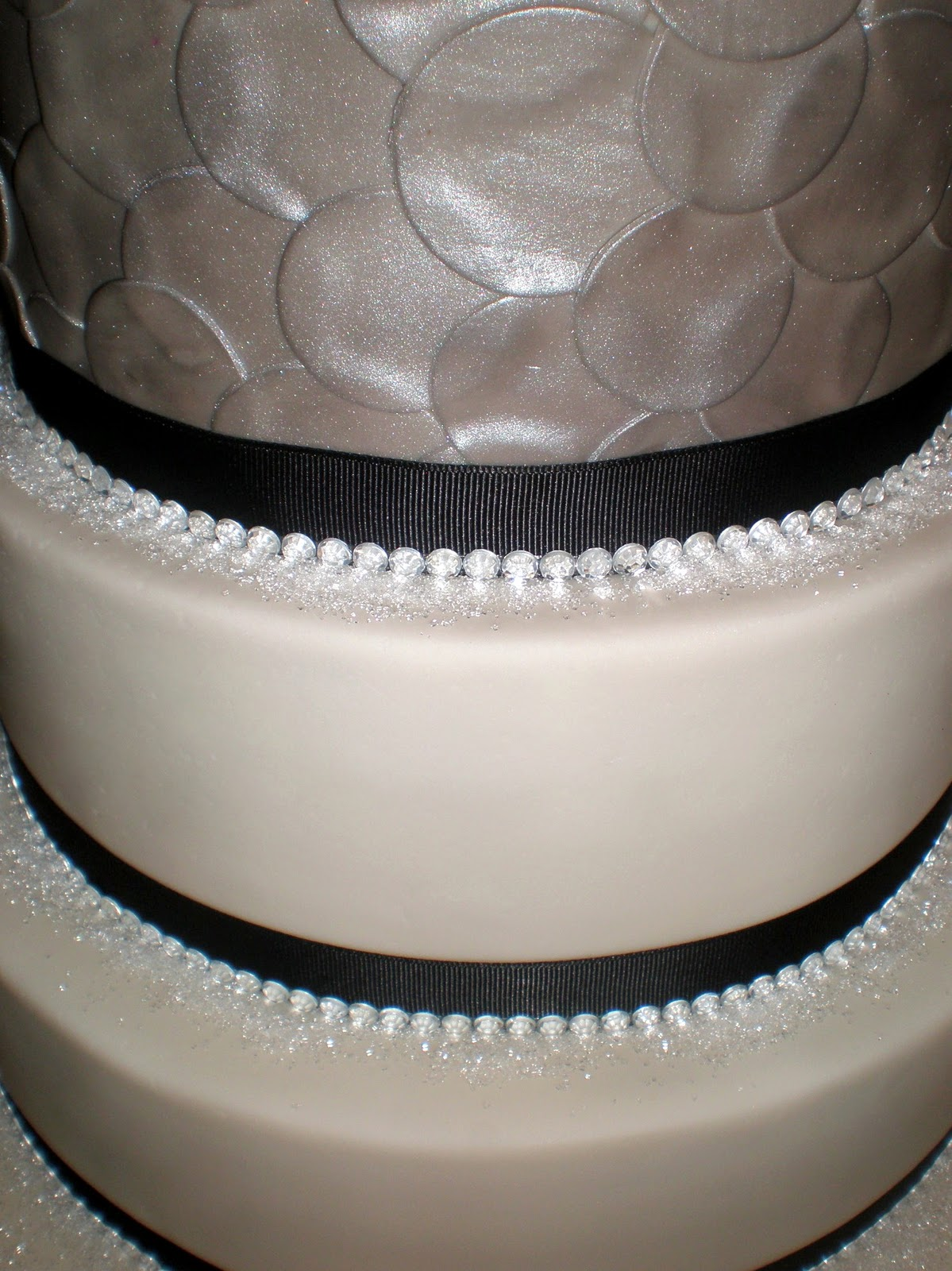 Black And White Wedding Cakes With Bling Viewing Gallery