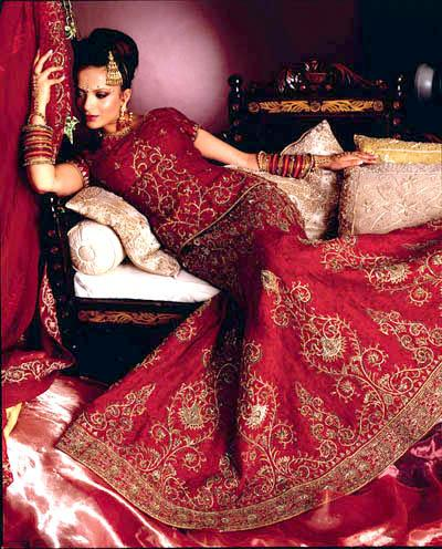 Exotica fashion red indian bridal dresses for Red indian wedding dress