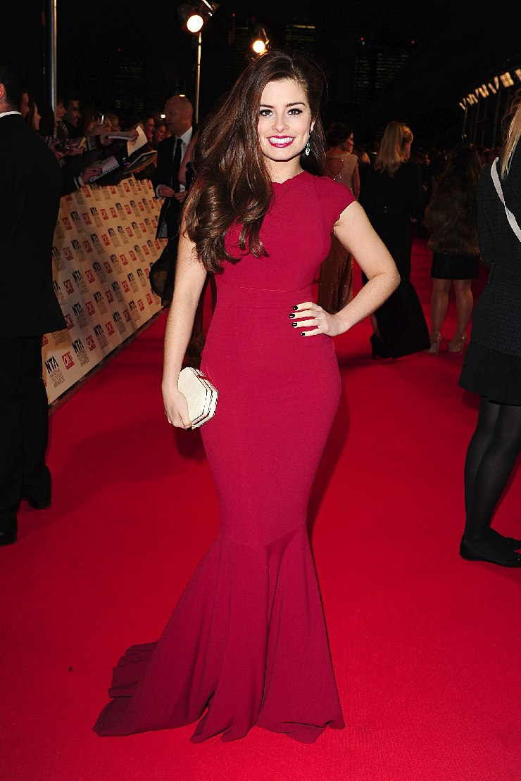 rachel shenton in tight red dress