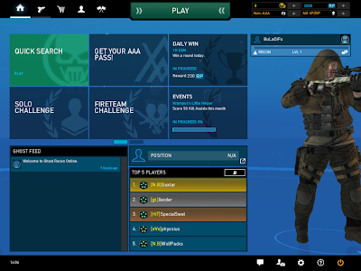 Ghost Recon Online - Game Lobby