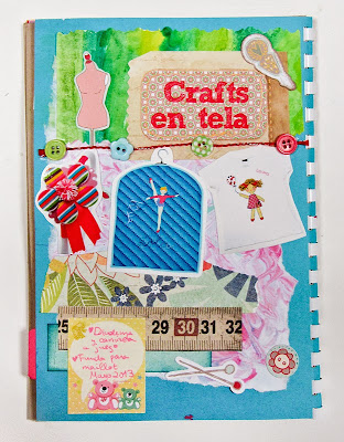 Segunda página art journal Kurisu Crafts