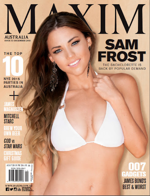 Sam Frost maxim cover girl