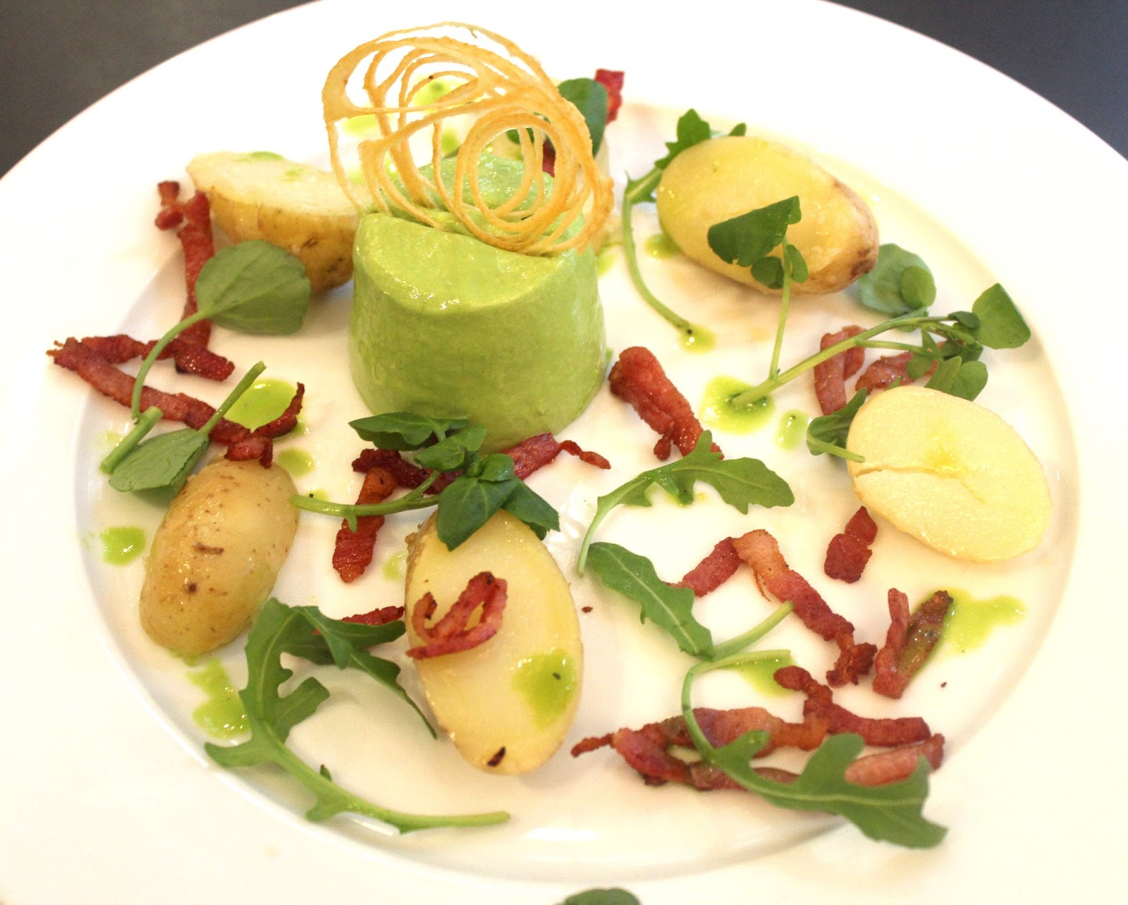 New River Dining: Pea bavarois and mint sauce. The perfect ...