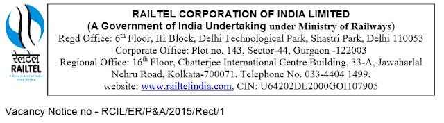 Railtel India Recruitment 2015