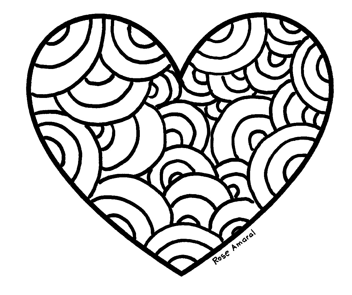 Coracao Para Colorir 3242 on love coloring pages